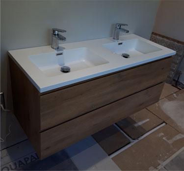 Bathroom double basin